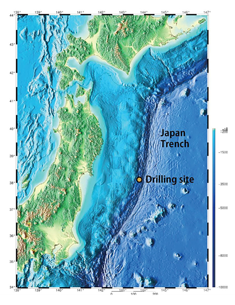 Temperature data to reveal frictional heat generated by fault slip figure shows the drilling site of iodp expedition 343343t gumiabroncs Images