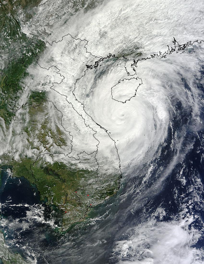 NASA satellites track Typhoon Haiyan's second landfall and ...