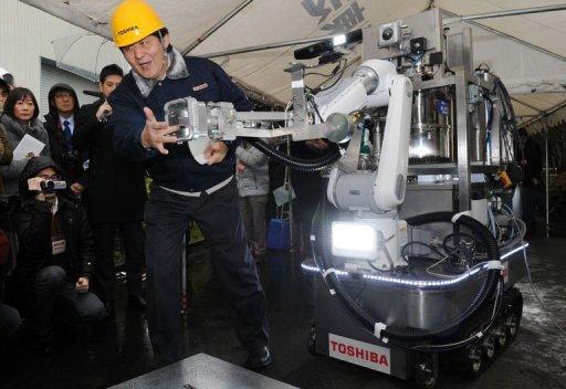 Risultati immagini per fukushima, robot toshiba