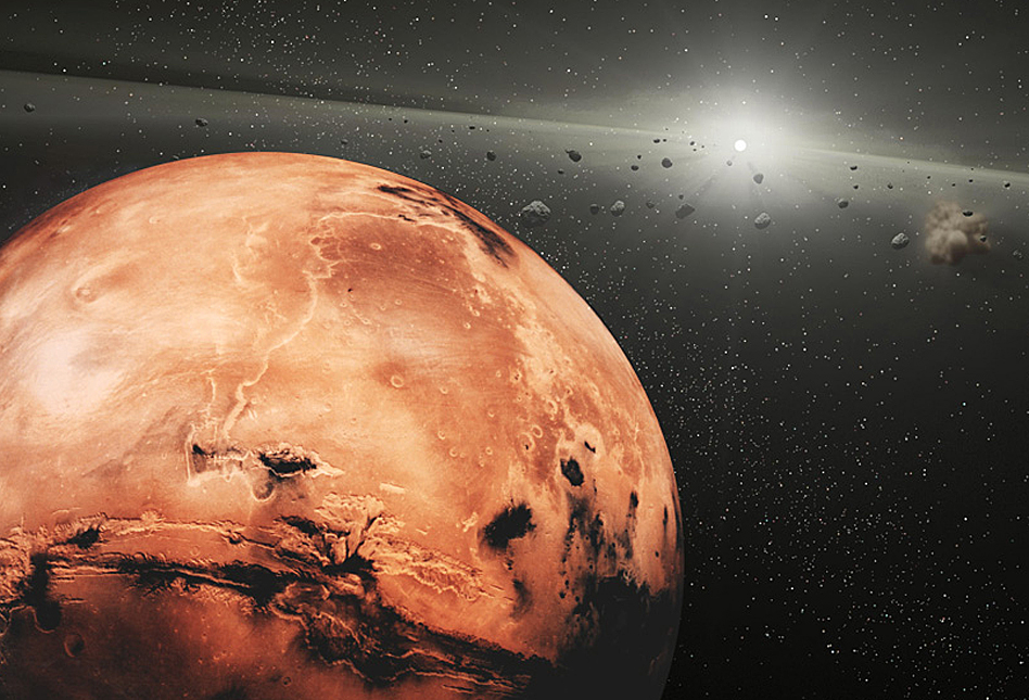 the astronomy on mars The fourth planet from the sun has a thin atmosphere composed of 95% carbon dioxide, 2-3% nitrogen, and 2% argon mars has no magnetic field atmospheric pressure is.