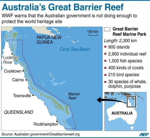 Australia failing unesco demands on barrier reef conservation group wwf says not enough had been done to prevent unesco from deeming the reef a world heritage site in danger gumiabroncs Gallery