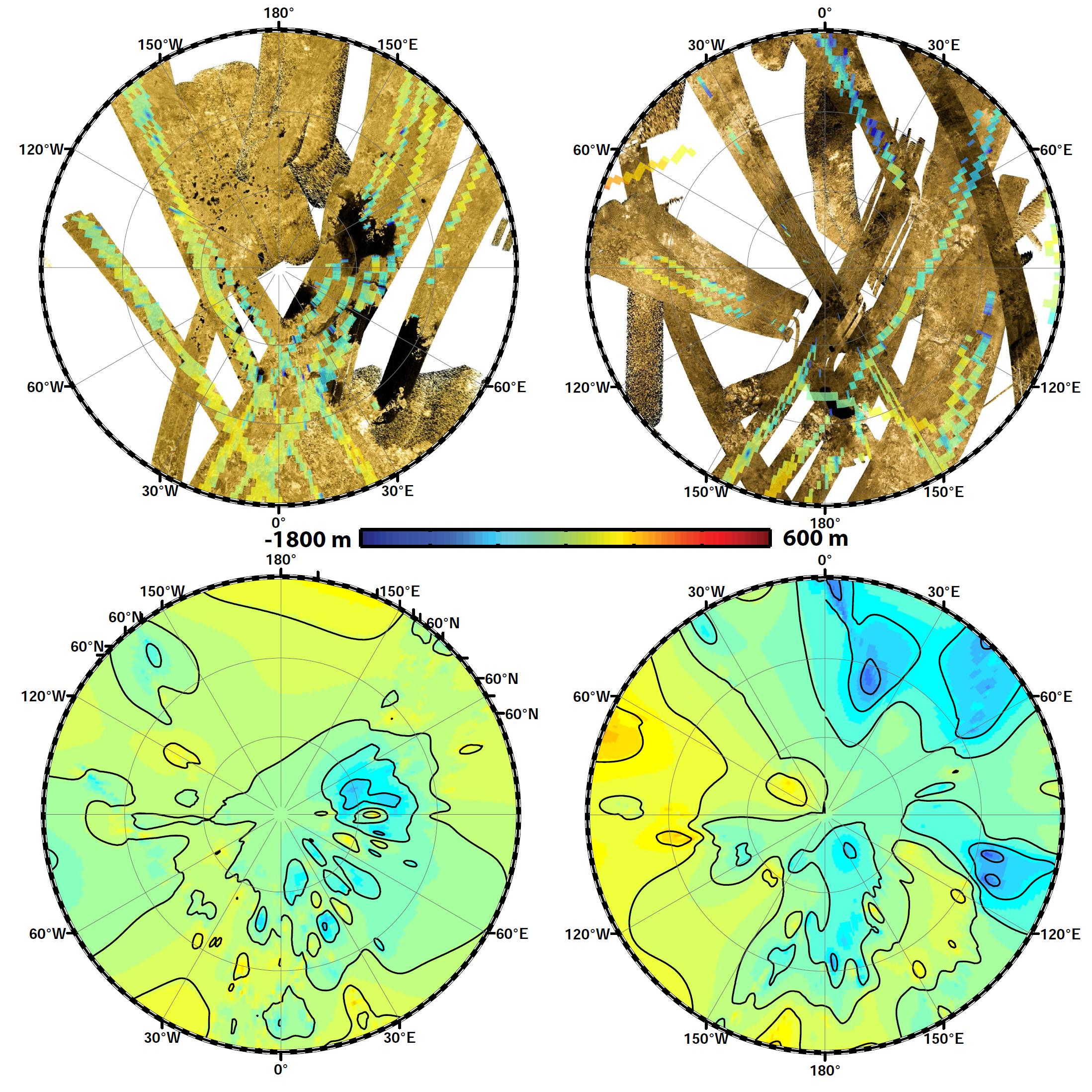 Shapes First Global Topographic Map Of Titan - Global topographic map