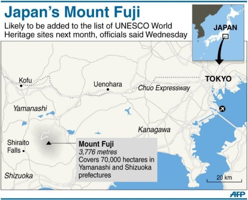 Japans Mount Fuji To Get World Heritage Stamp - Japan map fuji