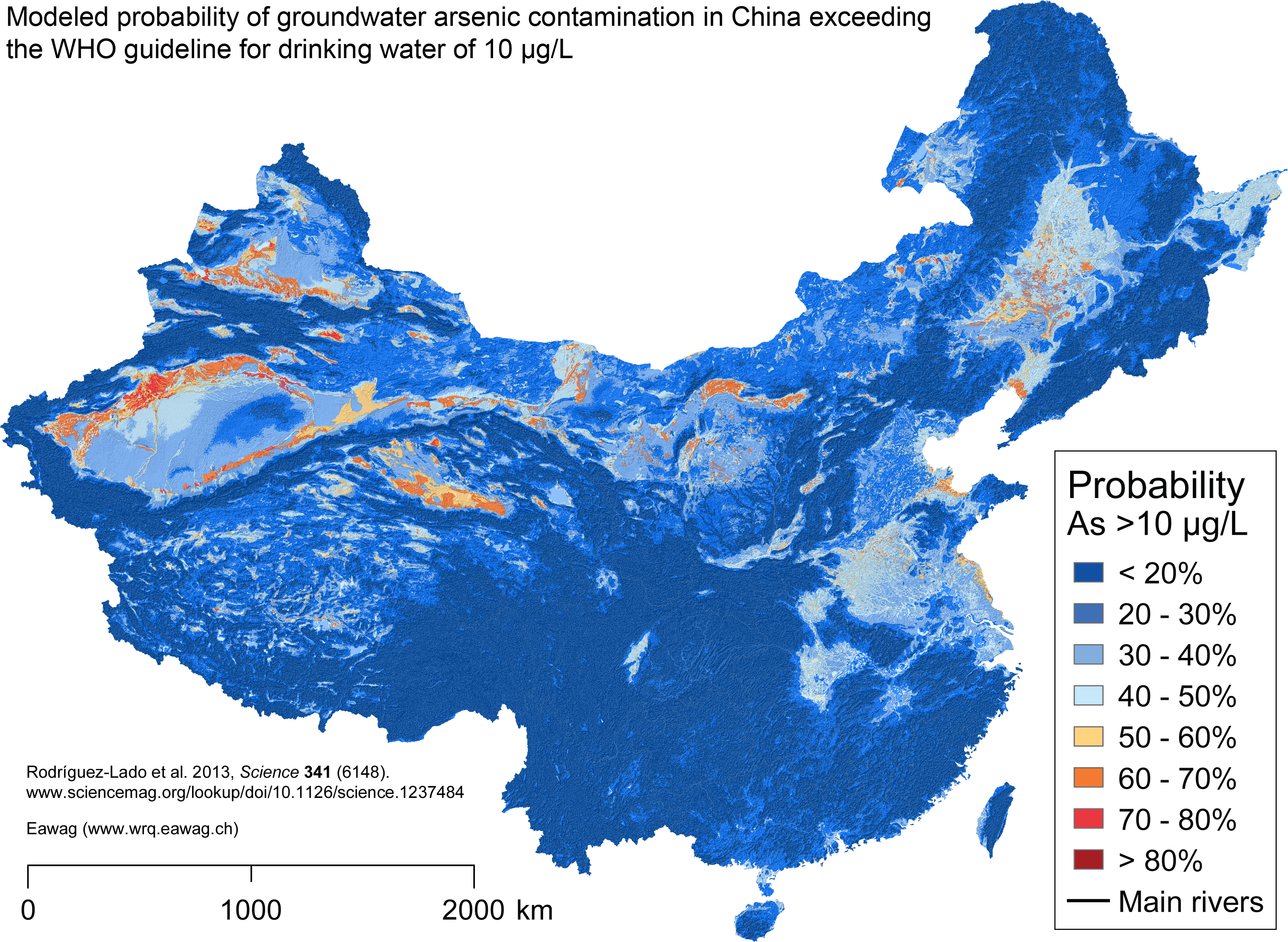 Risk Model Sheds Light On Arsenic Risk In Chinas Groundwater - Ground water contamination us map