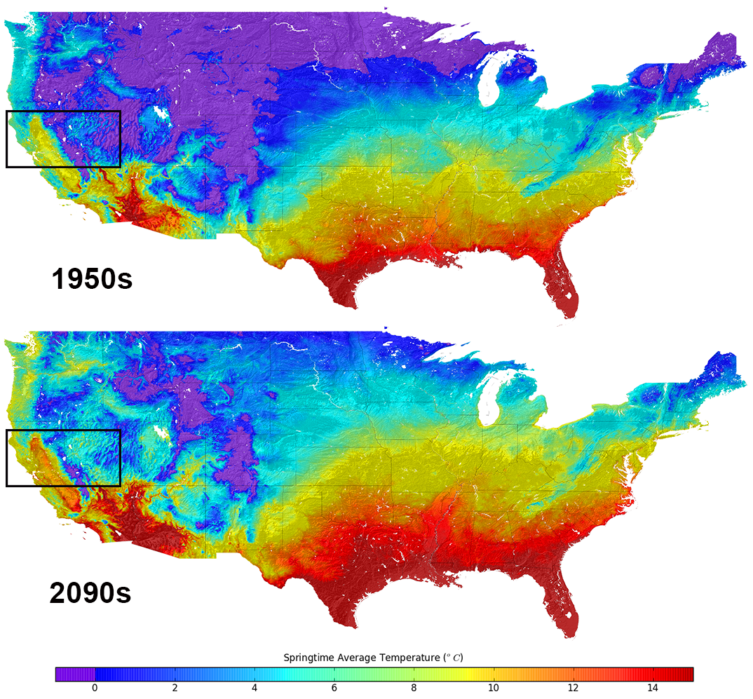 US Climate Map Shows Temperature Changes In HD - Average temp map us