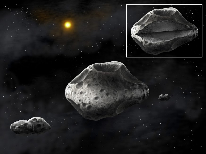 Telescopes large and small team up to study triple asteroid