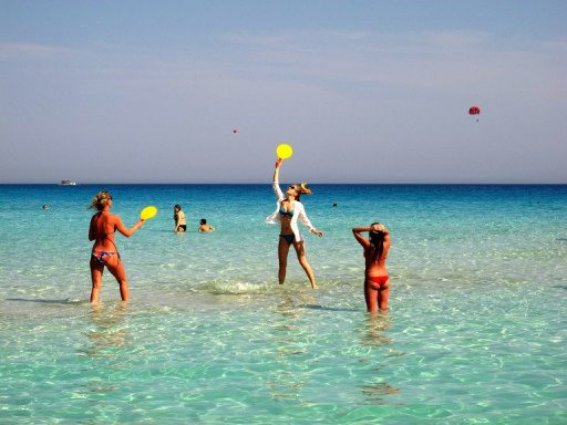 Tourists On Nissi Beach In Cyprus Earlier This Month The Vast Majority Of Some 22000 Swimming Beaches EU Are Clean And Safe European
