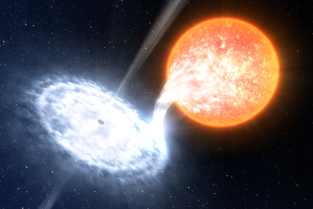Galaxy sucked into black hole
