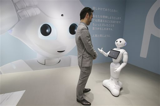 Chatty Japan Robot Makes Friends On First Day At Work