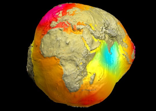 The potsdam gravity potato shows variations in earths gravity the 2005 model which was based on data from the champ and grace satellites and surface data was less refined than the latest one credit gfz gumiabroncs Images