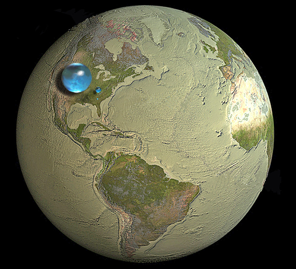 What Percent Of Earth Is Water Planet Inside Diagram Pics About Space Illustration Showing All Earths Liquid Fresh And In Lakes Rivers Credit Howard Perlman Usgs Illustraion By Jack Cook Whoi