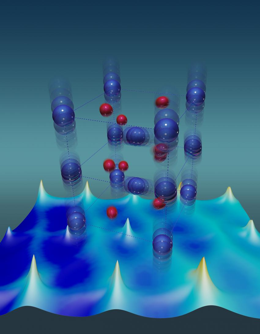 Good Vibrations Give Electrons Excitations That Rock An Insulator To Oxygen Atom Model Atomic Diagram Vanadium Atoms Blue Have Unusually Large Thermal Stabilize The Metallic State Of A Dioxide Crystal Red Depicts