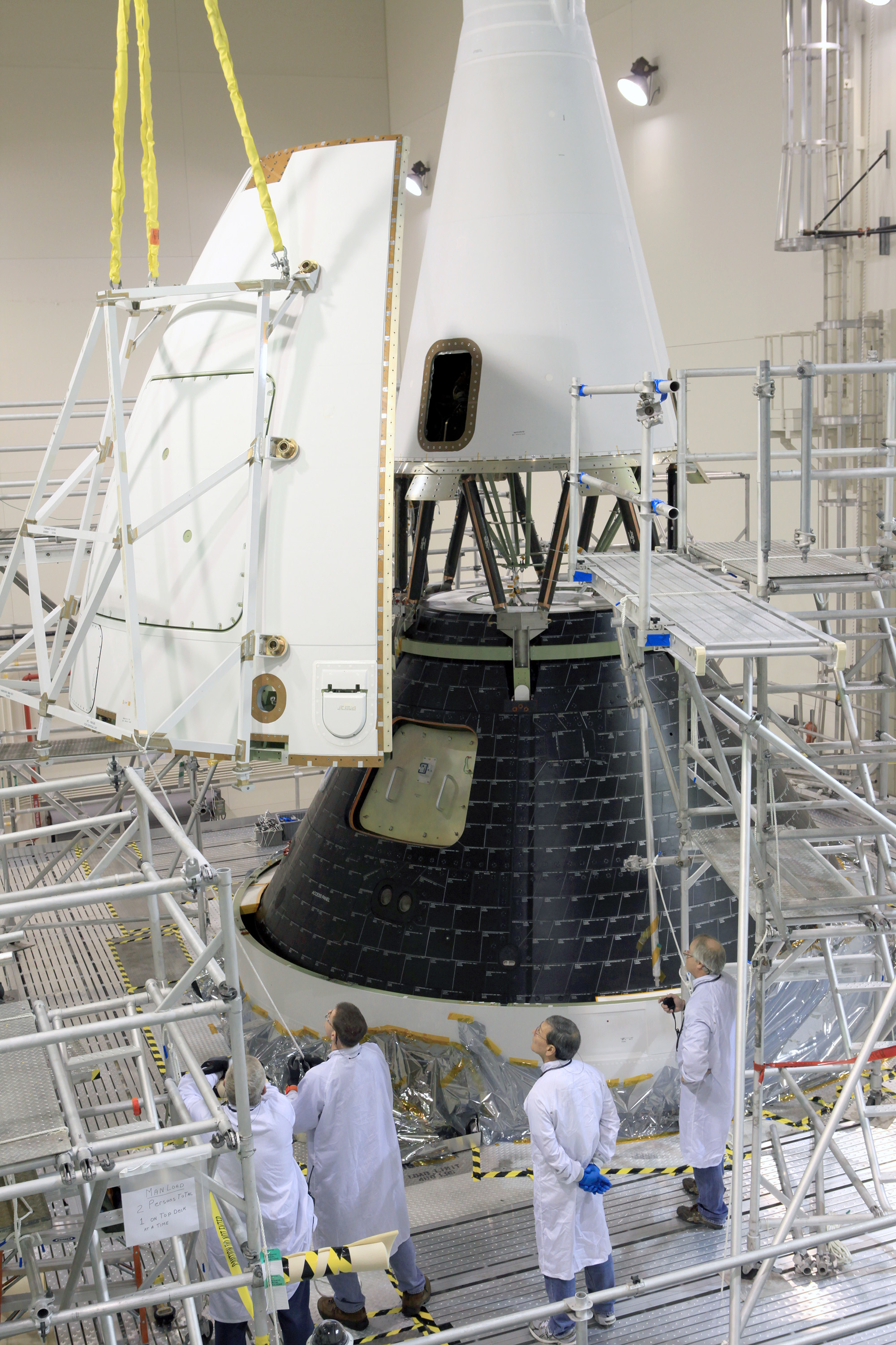 Assembly Complete For Nasa S Maiden Orion Spacecraft