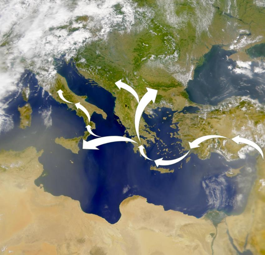 Study indicates Neolithic people from Near East migrated to Europe via island hopping