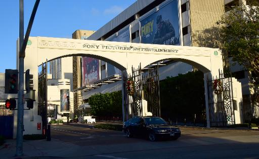 Sony meeting after hackers vow christmas gift the entryway to sony pictures entertainment is seen in los angeles california on december 4 2014 negle Choice Image