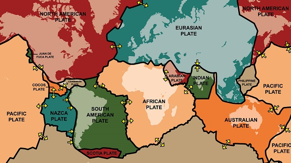 Worlds tectonic plate movement mapped the boundaries of the tectonic plates in the earths crust responsible for earthquakes and volcanoes credit istock gumiabroncs Choice Image