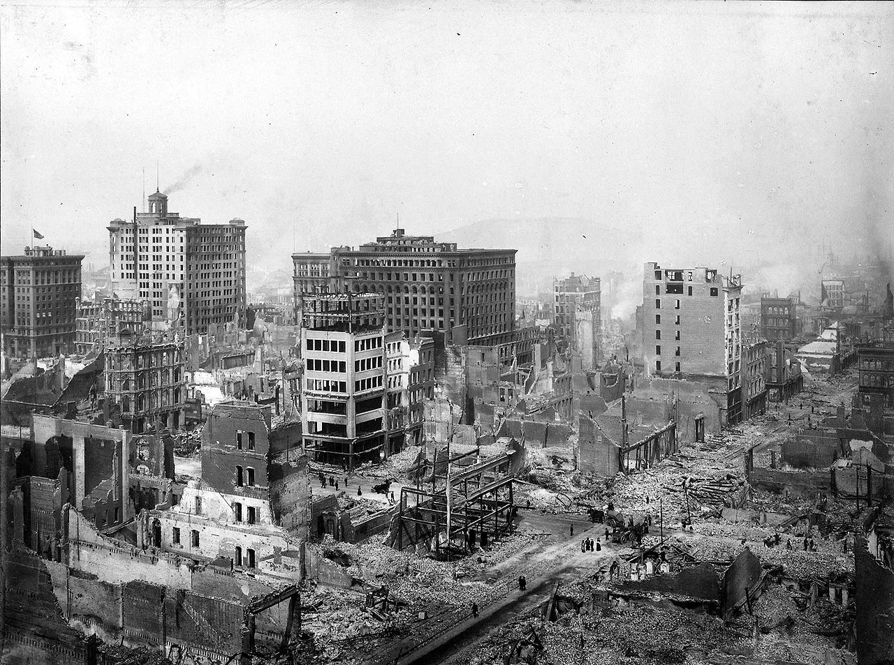 ruins from the 1906 san francisco earthquake remembered as one of the worst natural disasters in united states history credit public domain