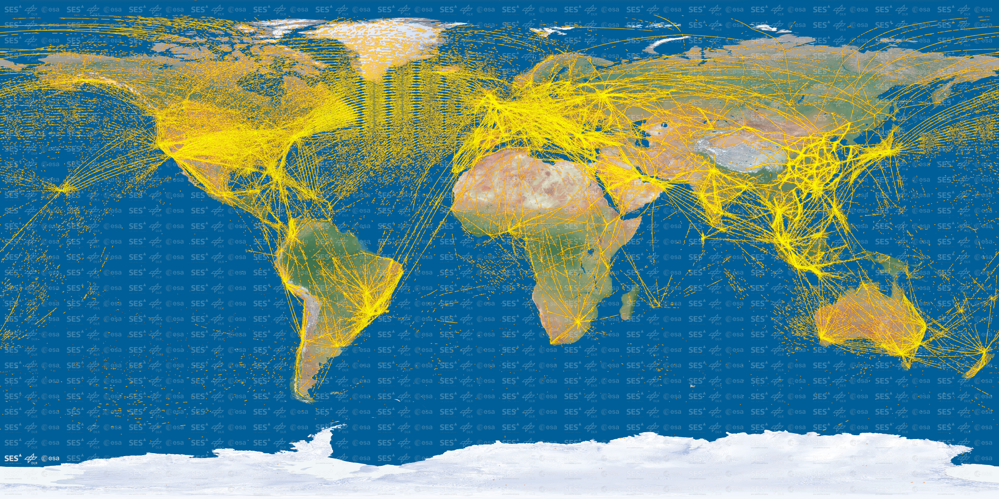 Proba v maps world air traffic from space gumiabroncs Image collections