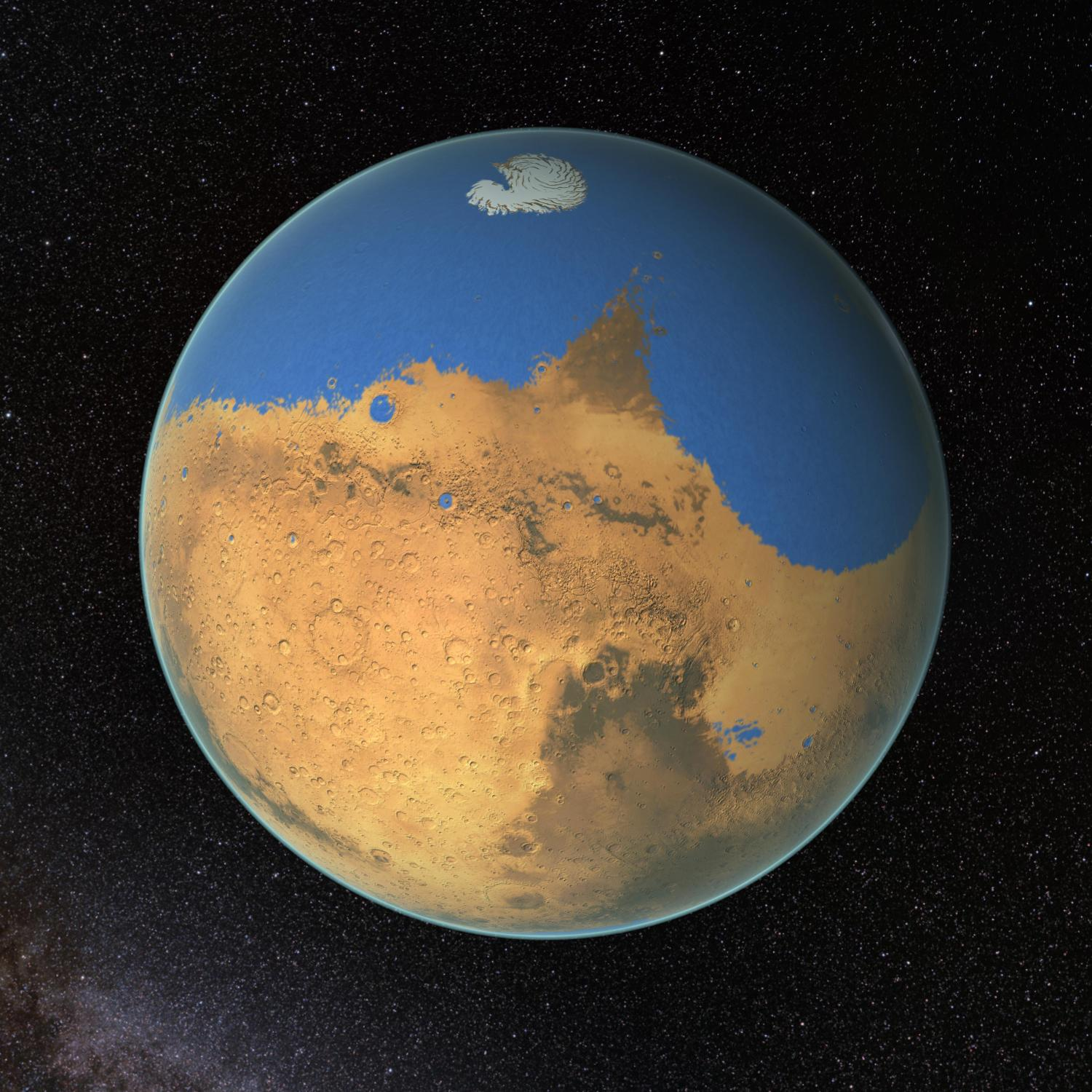 research suggests mars once had more water than earth 39 s arctic ocean. Black Bedroom Furniture Sets. Home Design Ideas