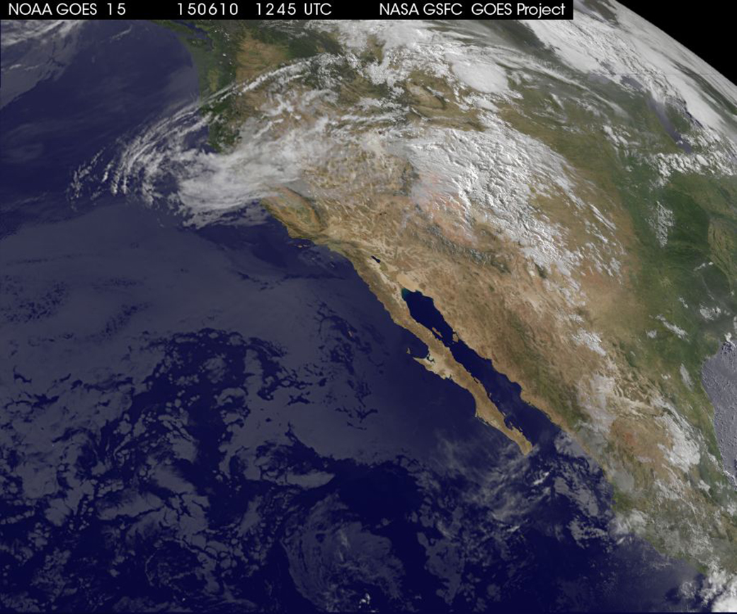 Shows Blancas Remnant Moisture Over New Mexico Today - Today satellite image of world