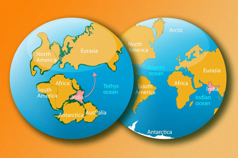 Researchers explain mystery of indias rapid move toward eurasia 80 researchers explain mystery of indias rapid move toward eurasia 80 million years ago gumiabroncs Choice Image