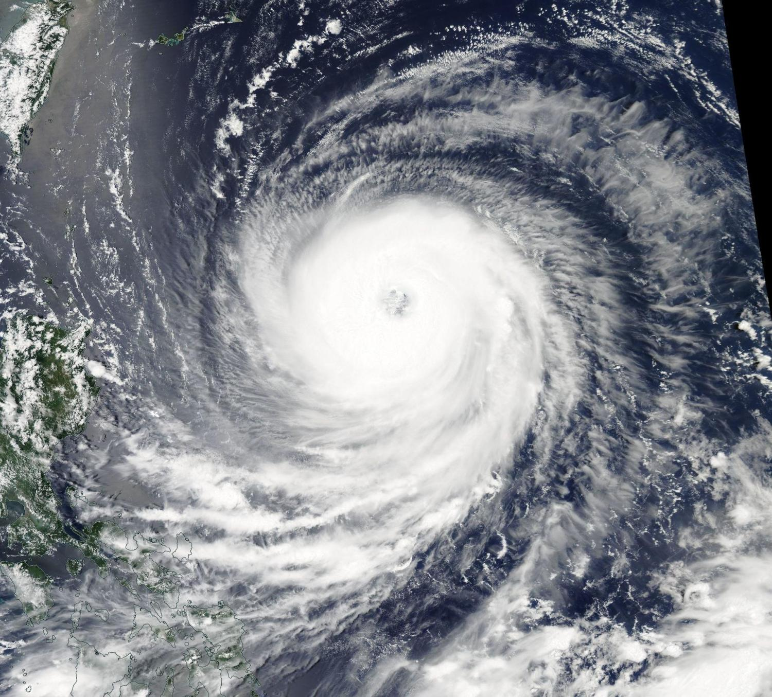 Aqua satellite analyzes Typhoon Goni