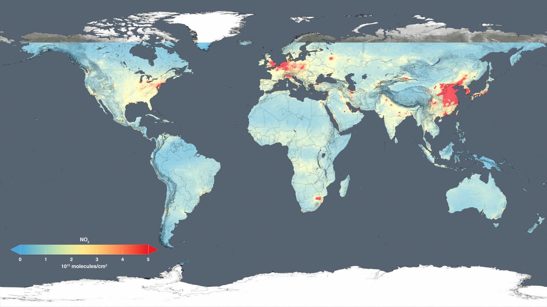 nasa satellite maps show human fingerprint on global air quality