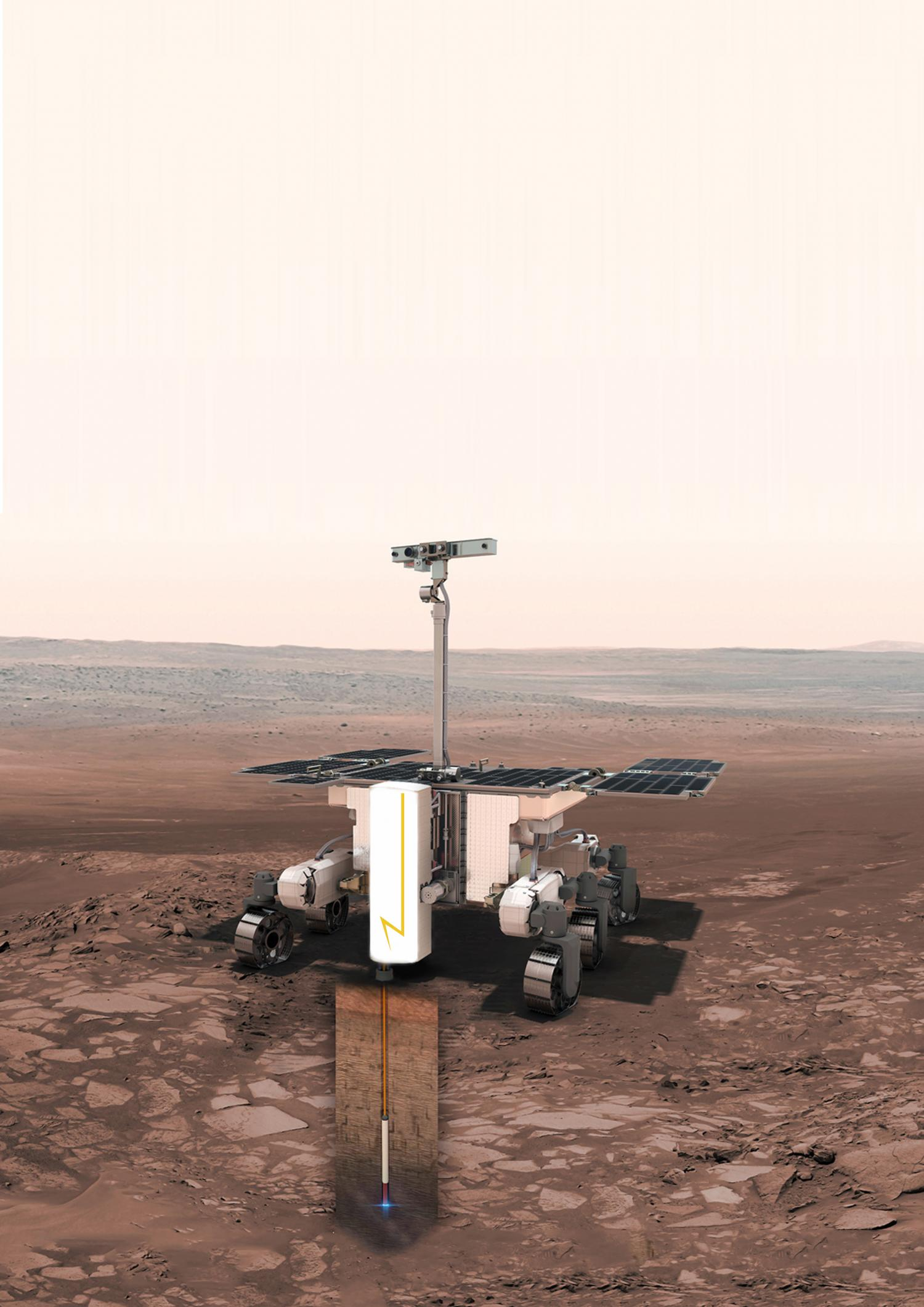 Probing Mars Charging Cars Fuse Box The Plasma Drill Developed For Esa By Norwegian Company Zaptec On Front Of Esas Rover Credit And
