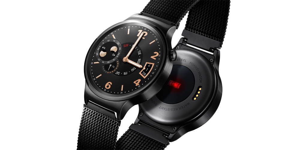 huawei watch black. huawei puts premium styling in watch entry, thinks classic black