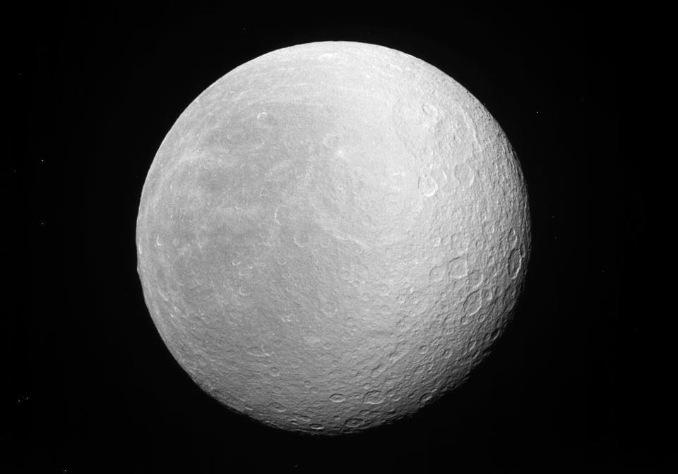 Saturn S Moon Rhea
