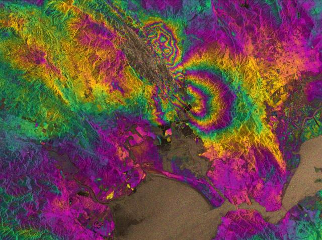 3d Satellite Gps Earthquake Maps Isolate Impacts In Real Time