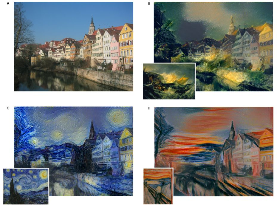 Style transfer deep learning