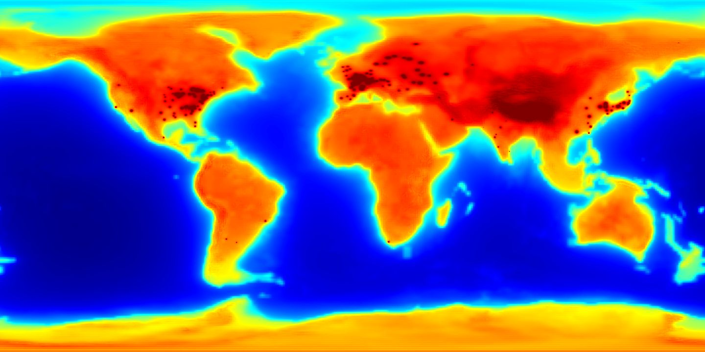 First global antineutrino emission map highlights Earths energy budget