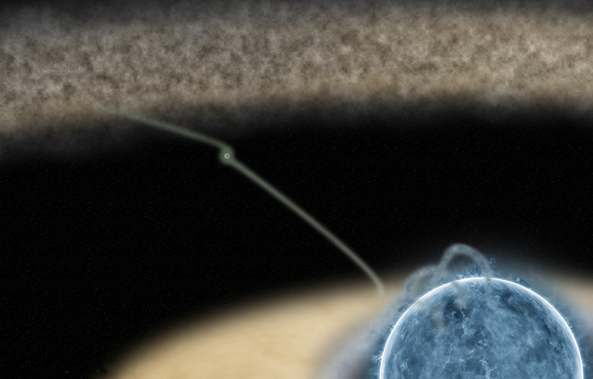 Astronomers peer into the 'amniotic sac' of a planet-hosting star