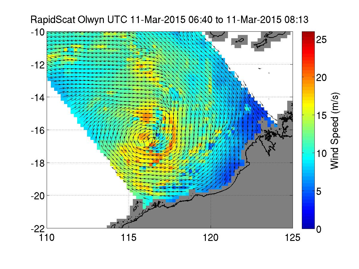 NASA sees Tropical Cyclone Olwyn nearing landfall in Australia