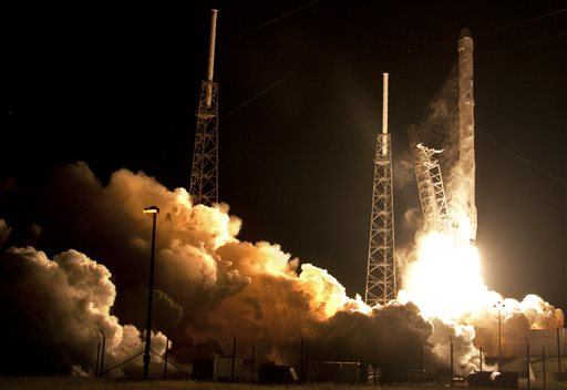 spacex launches for nasa no luck with rocket landing at sea