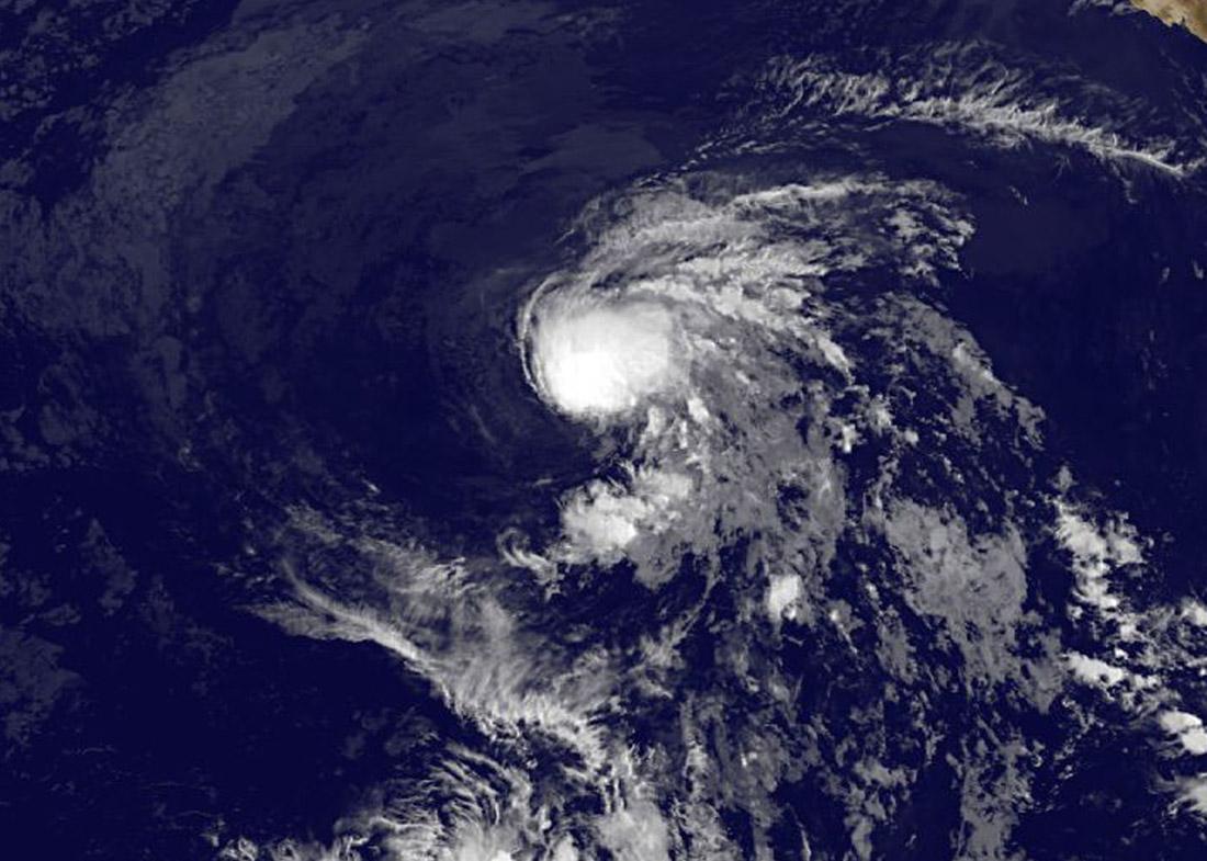 A satellite view of Tropical Storm Enrique