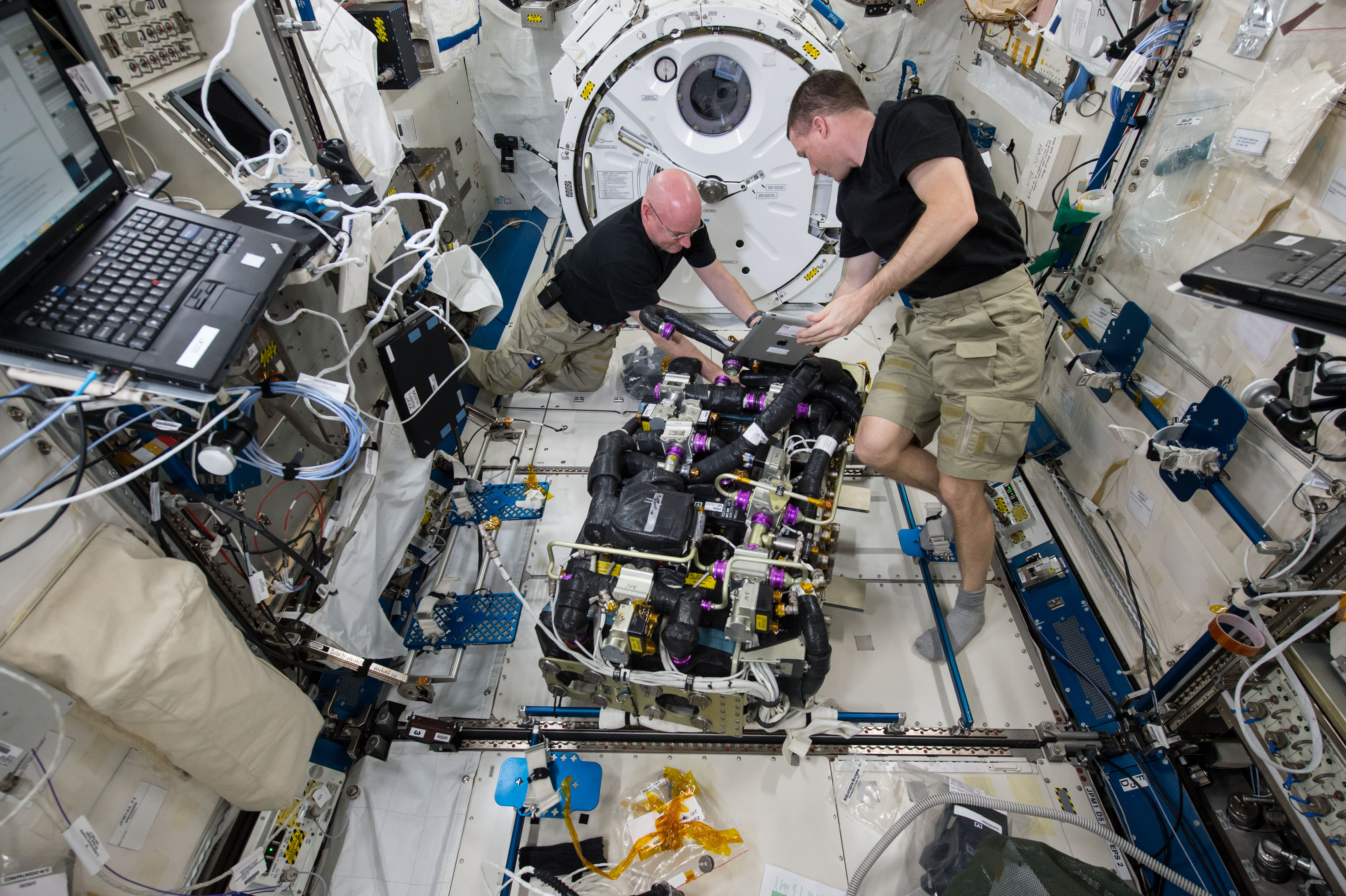 NASA image: Astronauts at work on the International Space ...