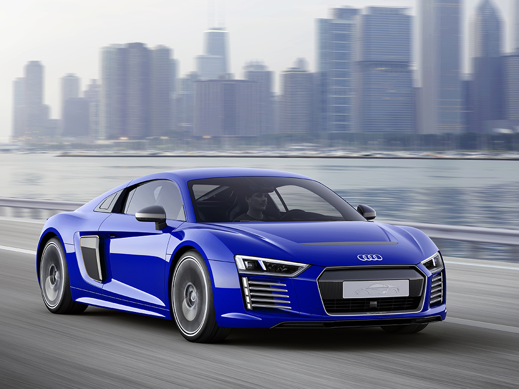 audi r8 e tron aims for high performance and self driving tech. Black Bedroom Furniture Sets. Home Design Ideas
