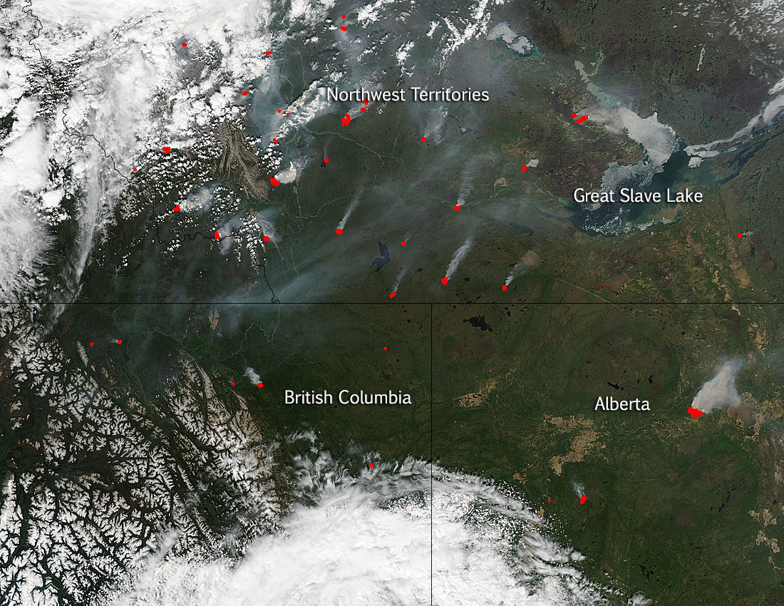 Image Canadian Wildfires Continue And Increase