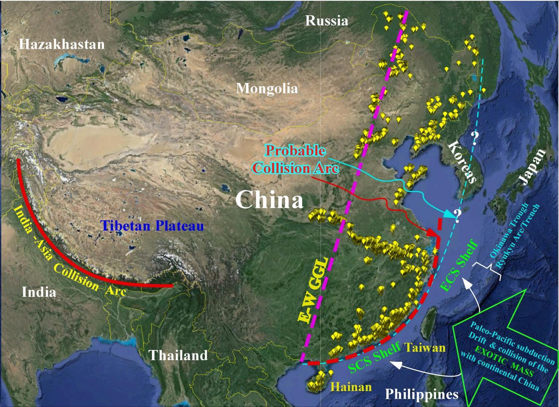 Chinese continental shelf of exotic origin collided with continental chinese continental shelf of exotic origin collided with continental china 100 million years ago publicscrutiny Images