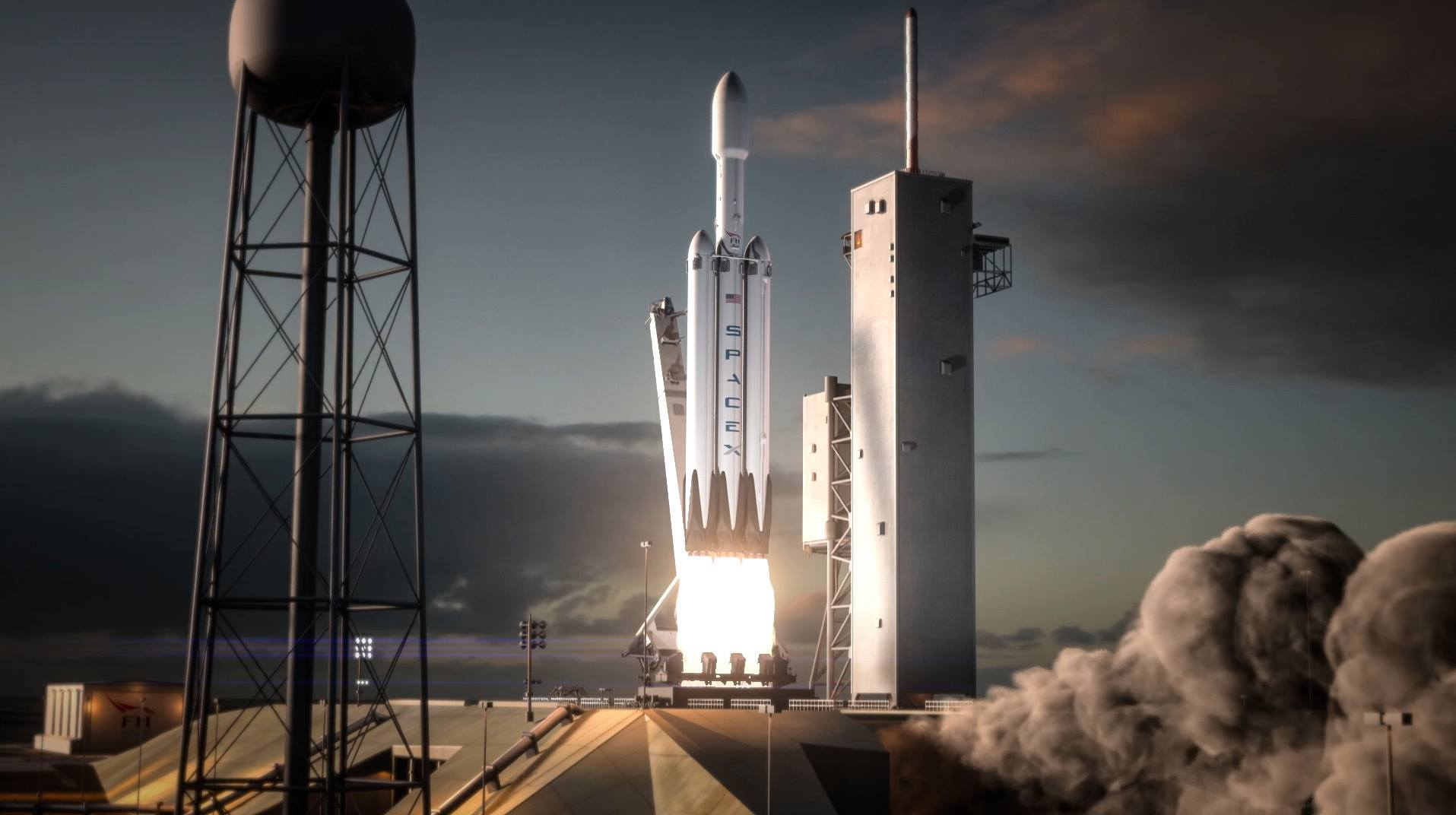 falcon heavy rocket launch and booster recovery featured in cool new spacex animation