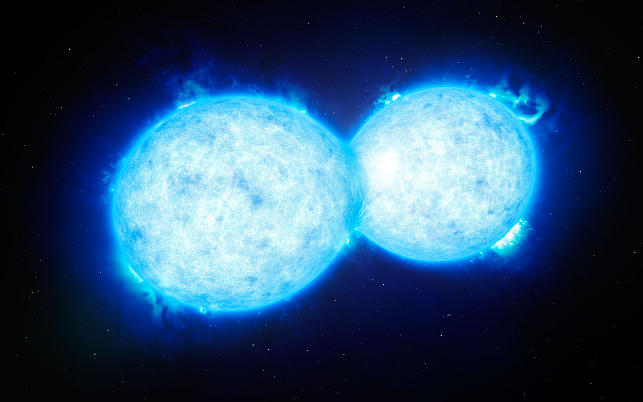 Final kiss of two stars heading for catastrophe