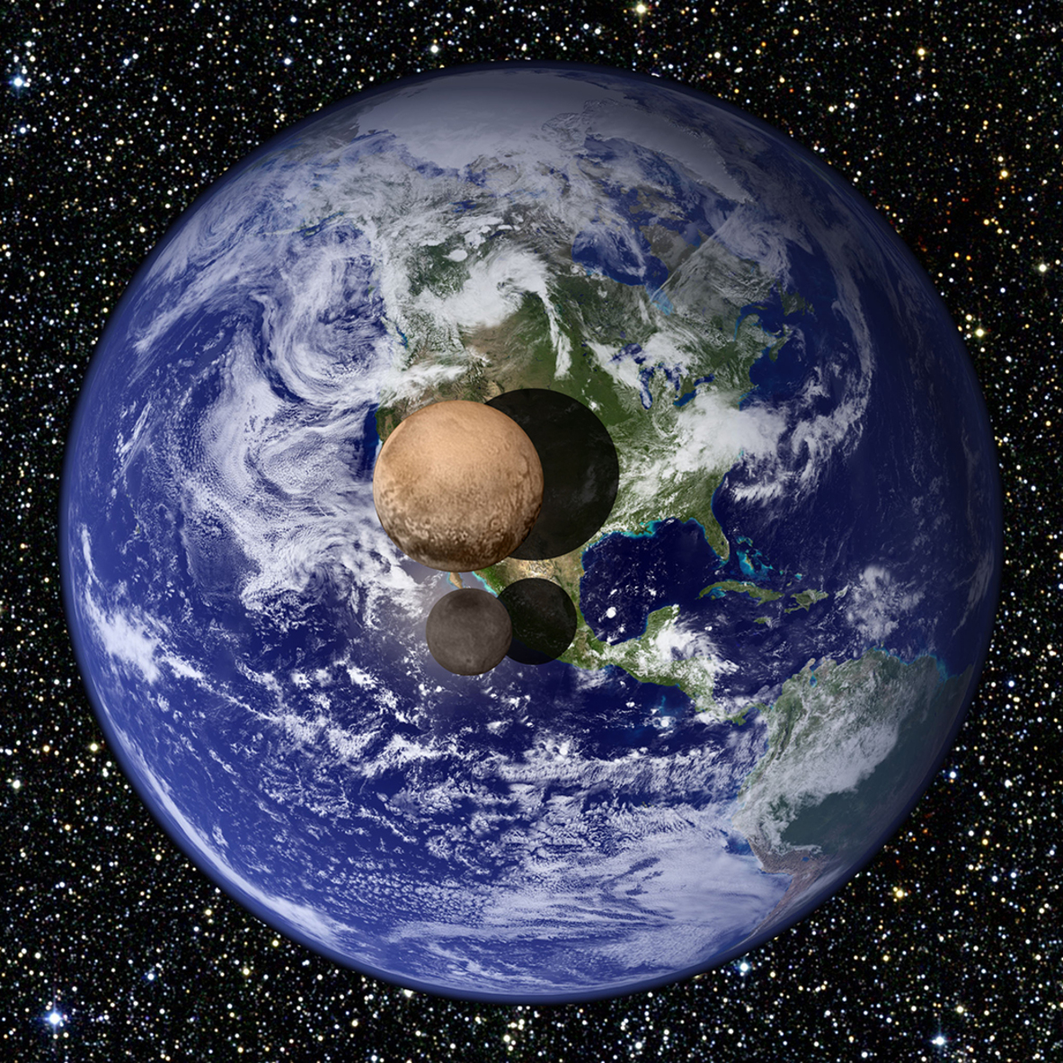 pluto and earth - HD1183×1183