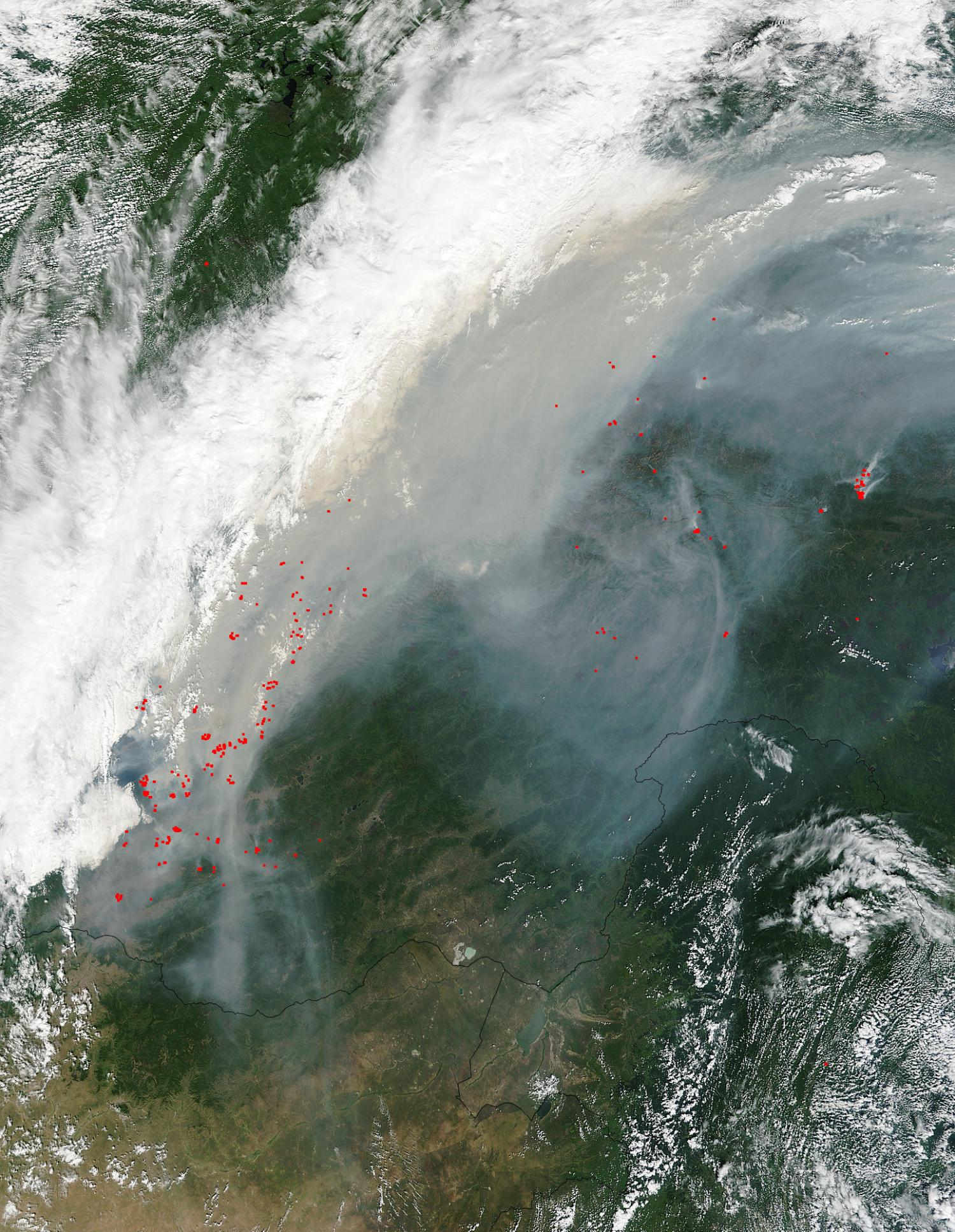 The area of ​​forest fire in Siberia increased 4 times per day 05/26/2017 61