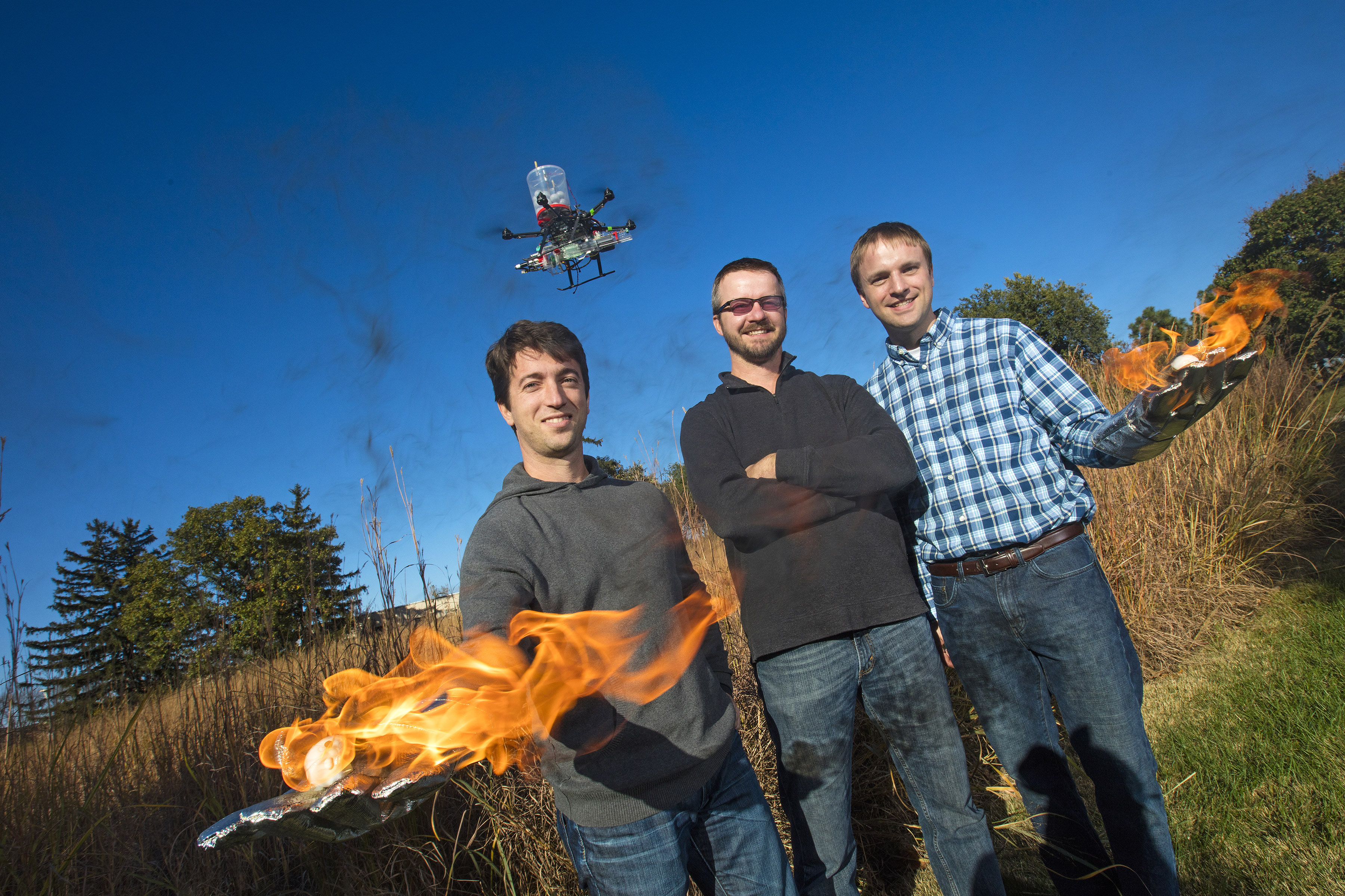 starting drone could aid grassland conservation efforts, fire prevention