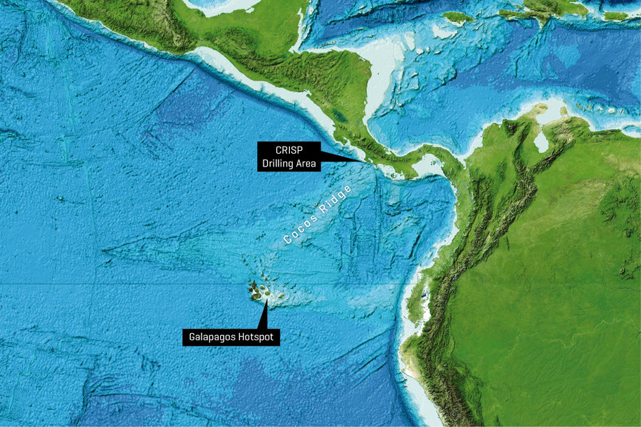 Galapagos On World Map.Highly Explosive Volcanism At Galapagos