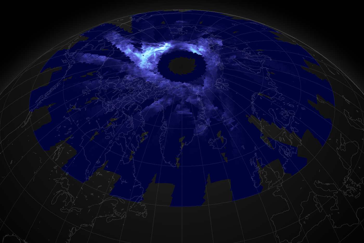 NASA image: Night-shining clouds