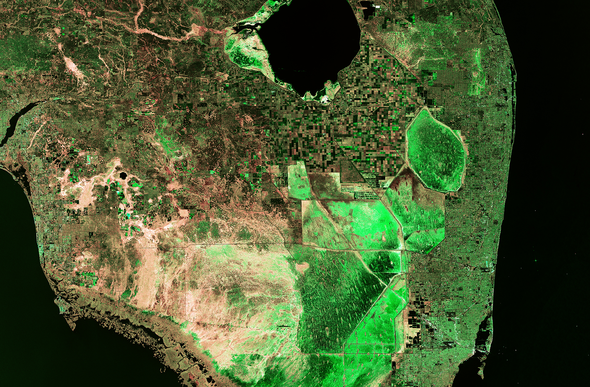 SentinelA Satellite Images Florida - World satellite map 2014