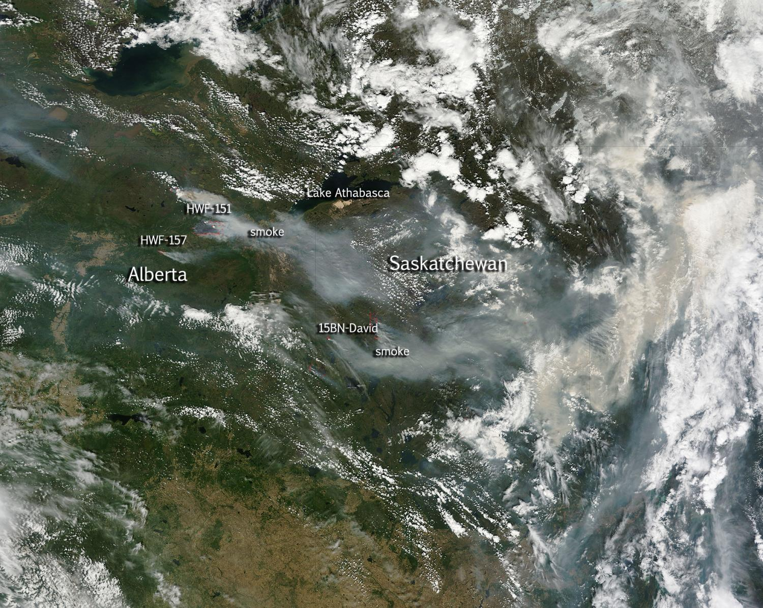 Image Large Wildfires Plague Alberta And Saskatchewan